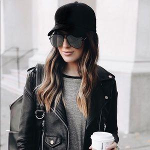 20% OFF 2+🖤 vegan suede baseball cap hat black